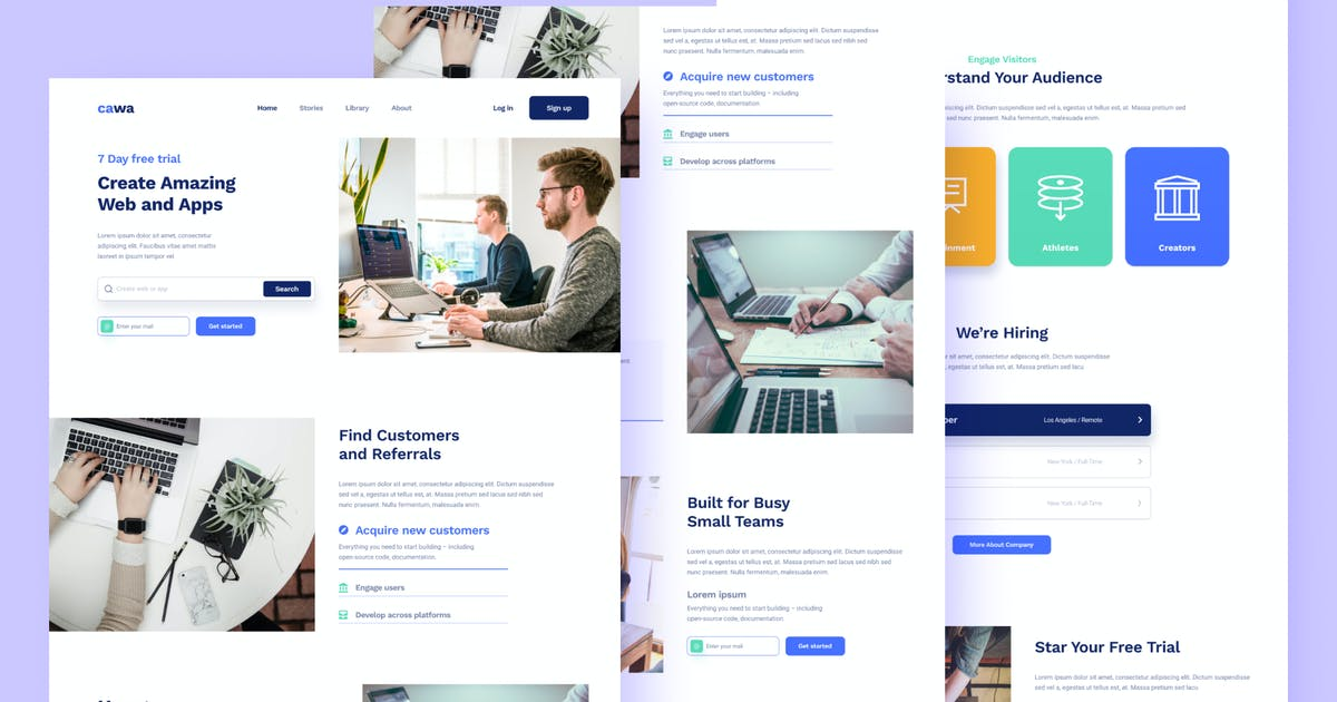 Download Web and Apps Landing - Sanstemp by GranzCreative