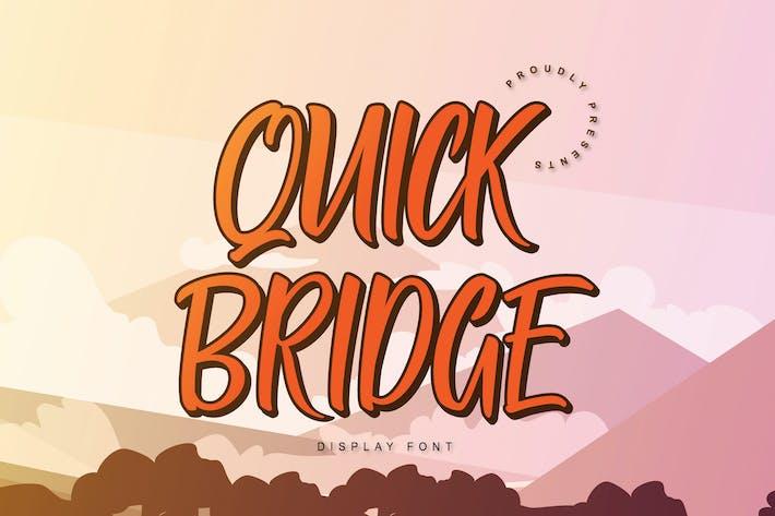 Thumbnail for Fonte de exibição de ponte rápida