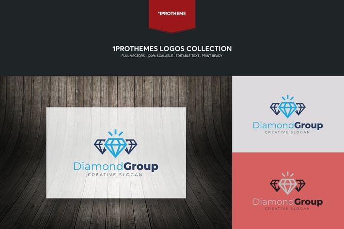 Thumbnail for Diamond Group Logo Template