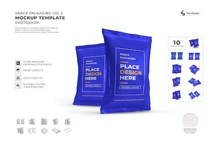 Snack Packaging Mockup Template Set Vol 2