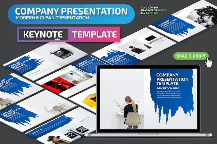 Thumbnail for Company Keynote Presentation Template