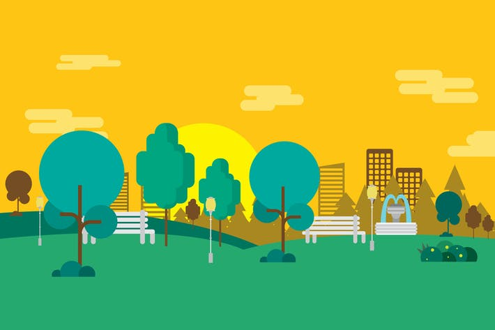 Thumbnail for Public Garden - Illustration Background