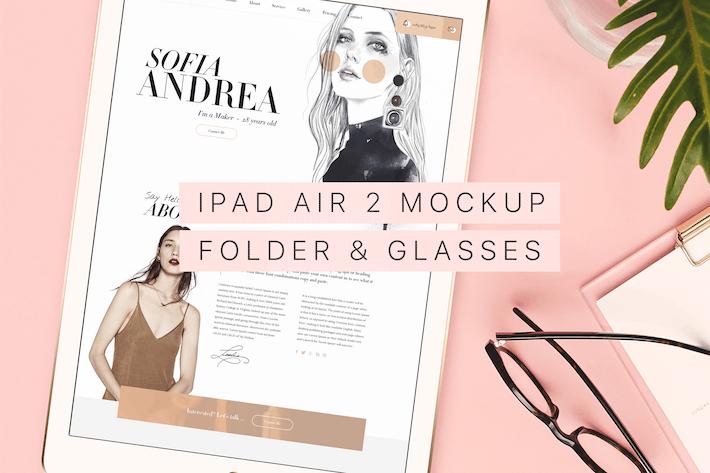 Thumbnail for Beautiful & Trendy iPad Air 2 Mockup