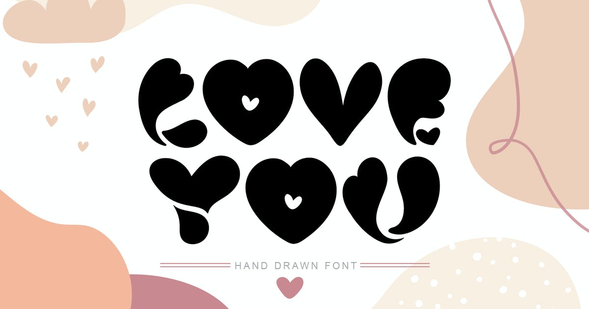 Download Love You Hand Drawn Valentine Font by timonko