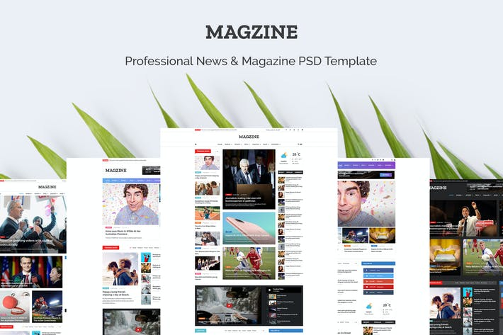 Thumbnail for MAGZINE - News Magazine Newspaper PSD Templates