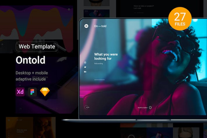 Ontold – web template for creative agency