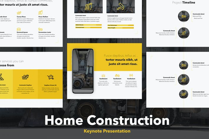 Thumbnail for Home Construction Keynote Template