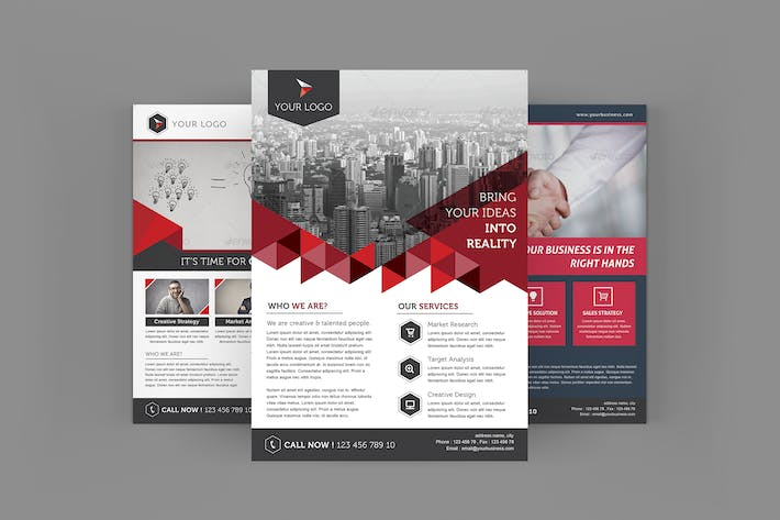company flyers by leaflove on envato elements