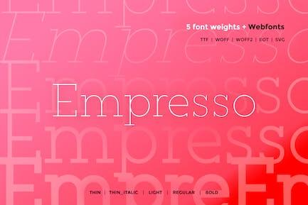 Empress - Classic WebFont con 5 pesos