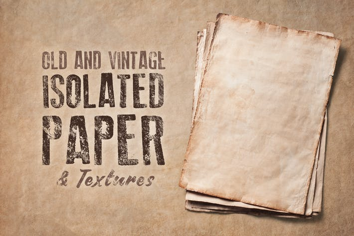 Thumbnail for Old Isolated Papers and Textures