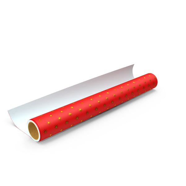 Thumbnail for Red Wrapping Paper Roll