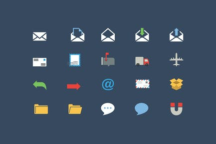 Communication Color Icons