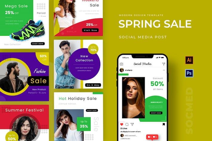 Thumbnail for Spring Sale Instagram Post