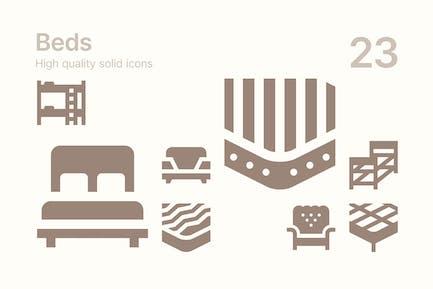 Bett-Icons