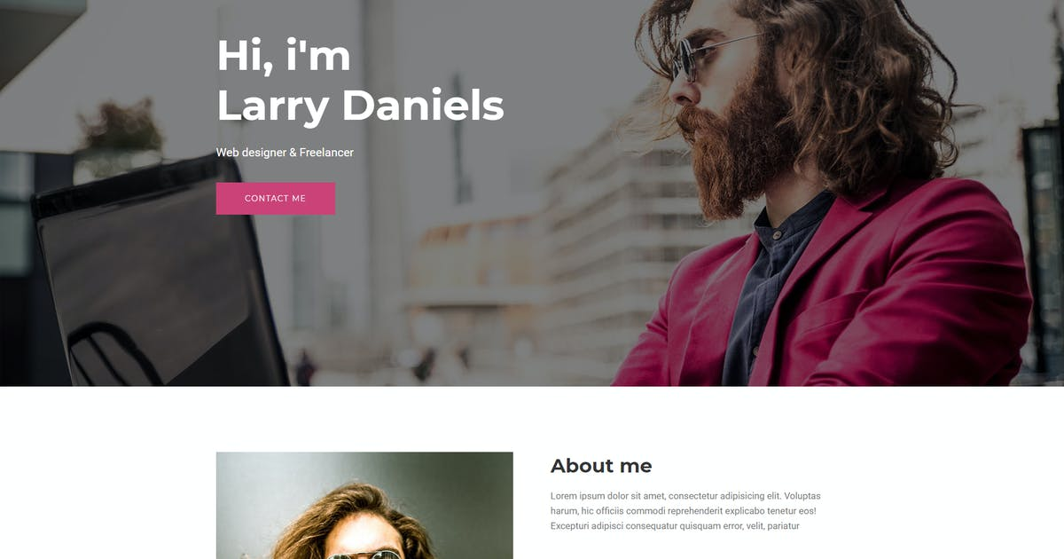 Download Larry - Personal HTML Onepage Template by murren20