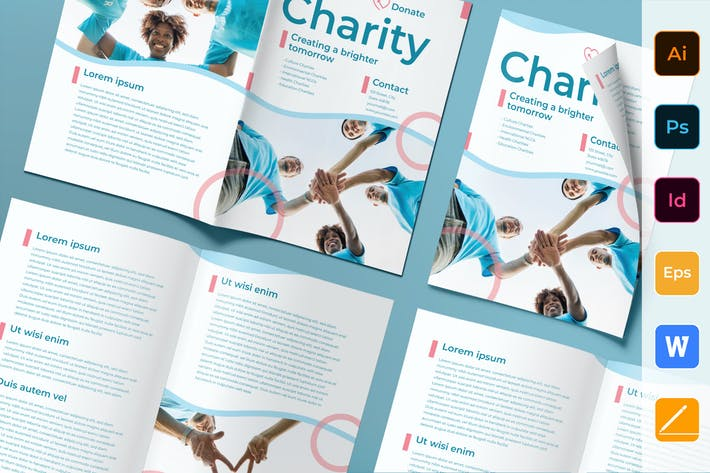 Thumbnail for Charity Brochure Bifold