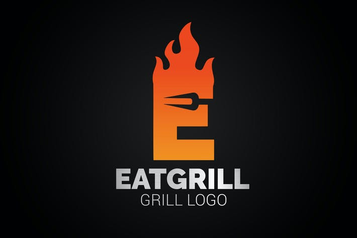 Thumbnail for Letter E Fire Grill Logo