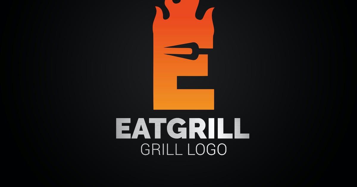 Download Letter E Fire Grill Logo by SmartDesigns_eu