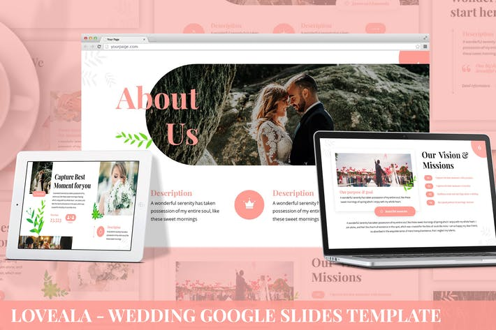 Thumbnail for Loveala - Wedding Google Slides Template