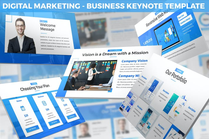 Thumbnail for Digital Marketing Keynote Template