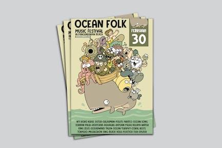 Ocean Folk Poster RG