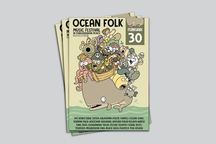Thumbnail for Ocean Folk Poster RG