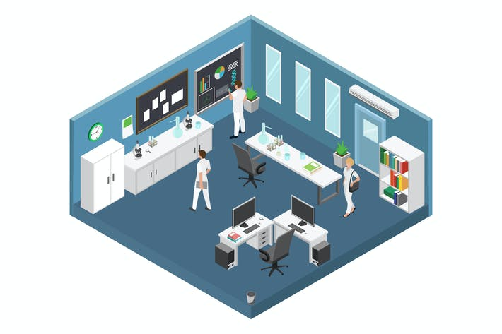 Thumbnail for Laboratory Isometric Illustration