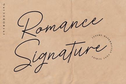 Romance Signature - Beauty Signature Font