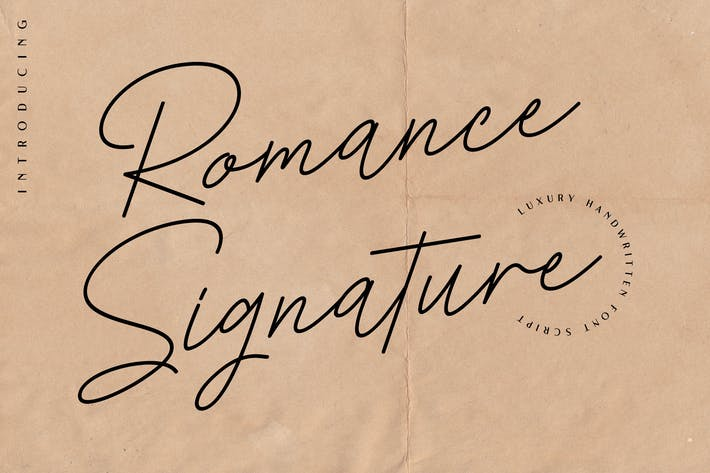 Thumbnail for Romance Signature - Beauty Signature Font