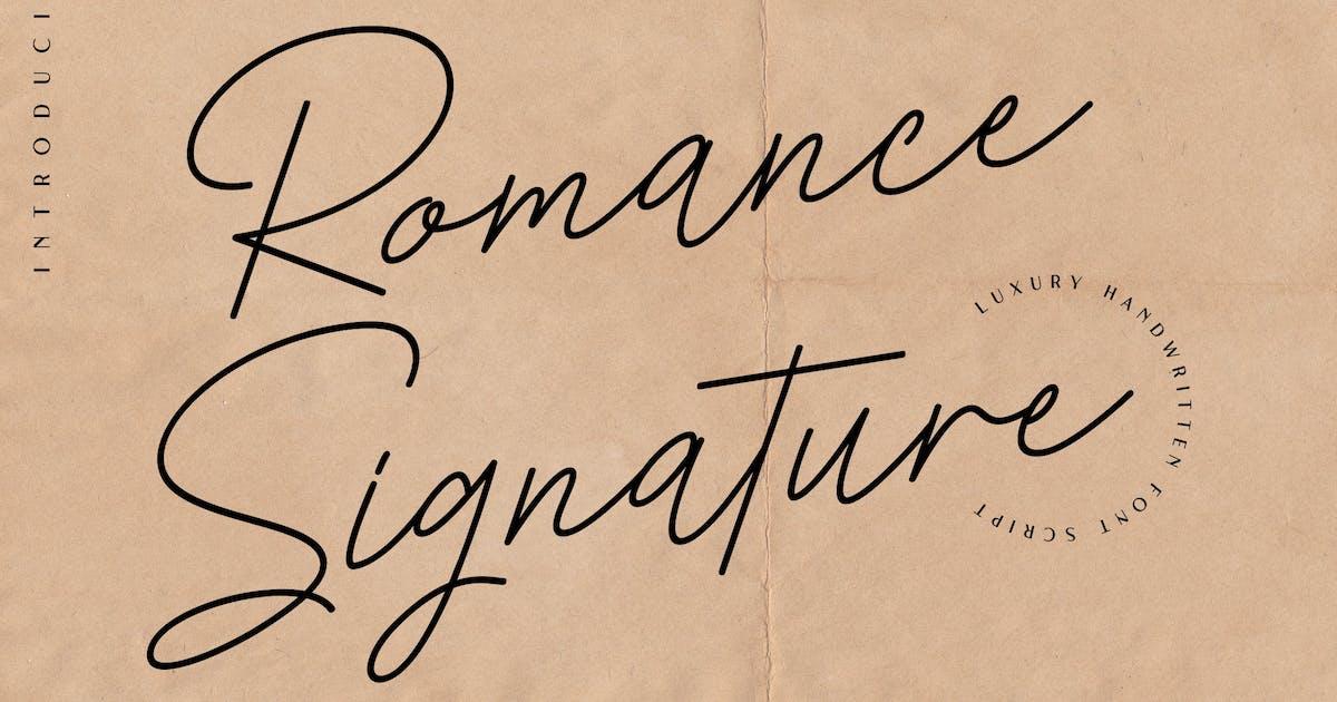 Download Romance Signature - Beauty Signature Font by naulicrea