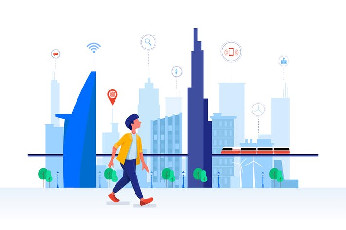 Thumbnail for Smart City Vector Illustration