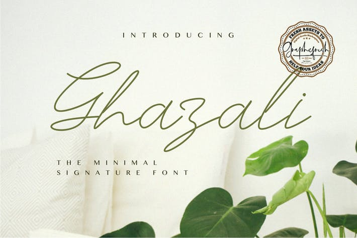 Thumbnail for Ghazali - The Minimal Signature Font