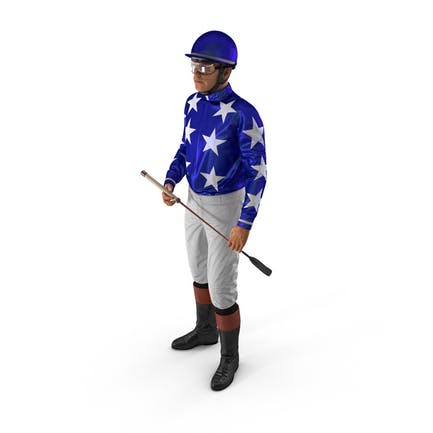 Horse Racing Jockey Standing Pose