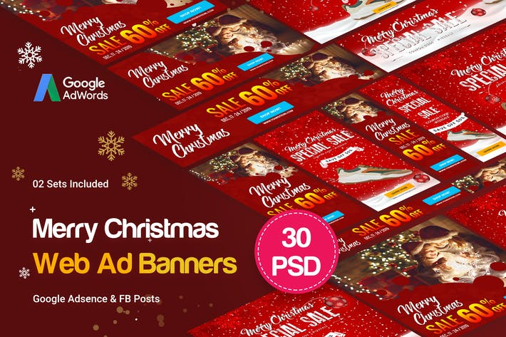 Cover Image For Merry Christmas Banners Ad