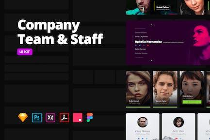 Company Team & Staff – Multi-format UI Kit