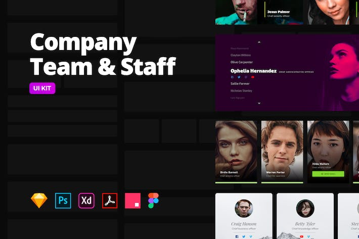 Company Team & Staff – Multi-format UI Kit