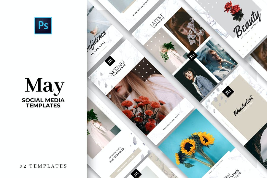 May - Social Media Template Collection