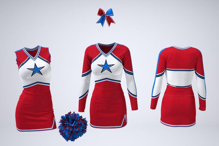 Thumbnail for Cheerleading Uniform Mock-Up