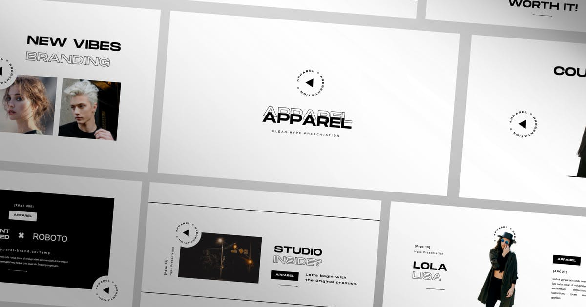 Download Apparel Presentation Template by templatehere