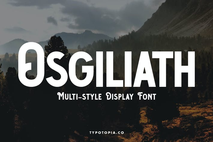 Fuente de visualización multiestilo Osgiliath
