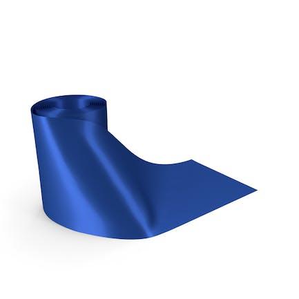 Blue Round Roll Silk Ribbon