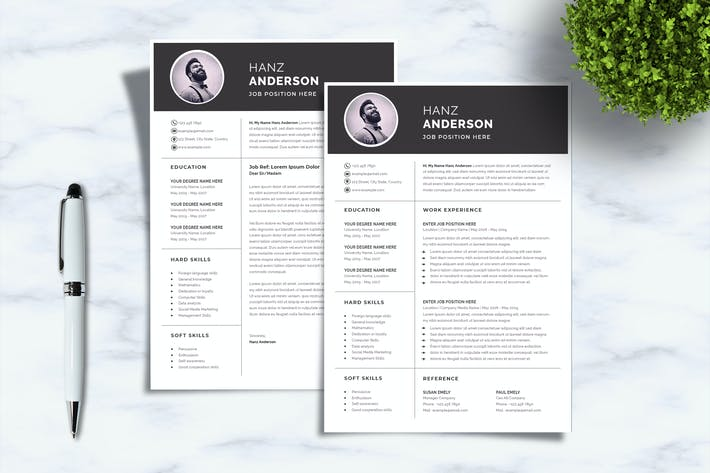 Thumbnail for Sanstemp - Professional & Monochrome Resume/CV