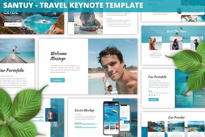 Santuy - Шаблон Keynote для путешествий