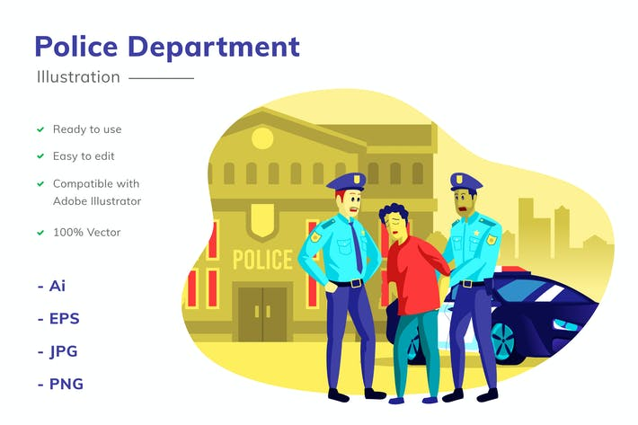 Thumbnail for Police Department Illustration