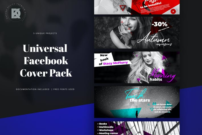 Thumbnail for Facebook Cover Banners Pack