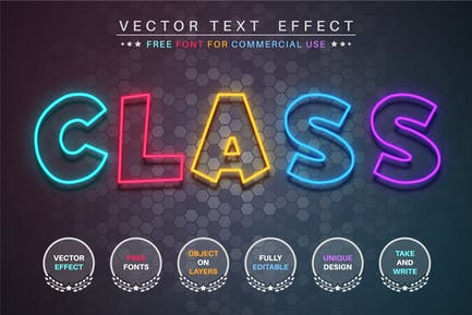 Color class - editable text effect, font style