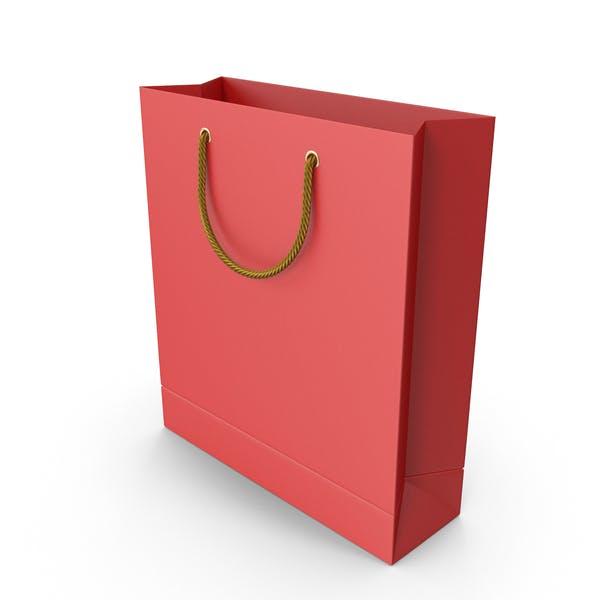 Красная сумка с золотыми ручками