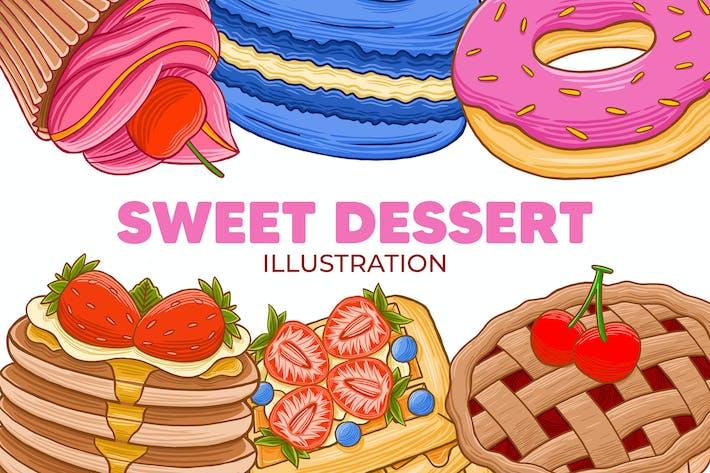 Thumbnail for Sweet Dessert Illustration