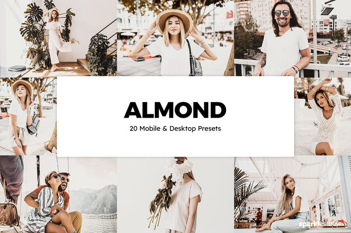 Thumbnail for 20 Almond Lightroom Presets & LUTs