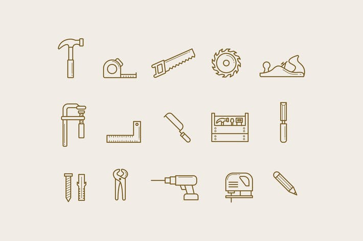 Thumbnail for 15 Carpentry Icons
